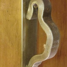 Railroadware - Door Pull on Escutcheon