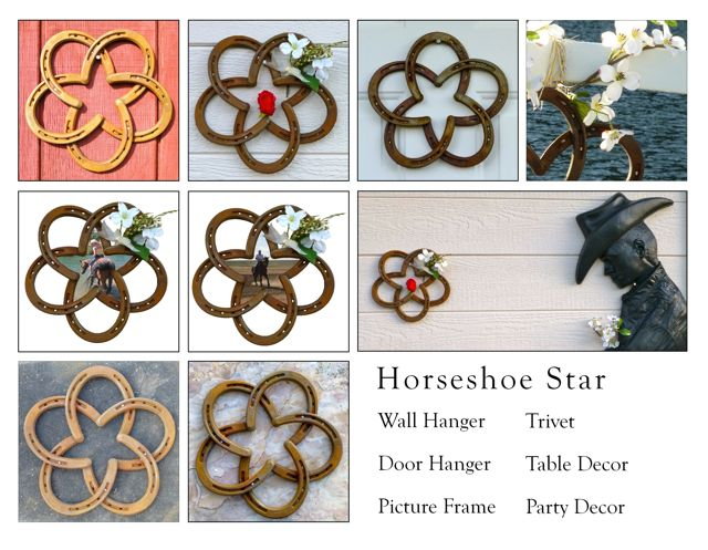 horseshoe star picture frame cowboy wedding floral