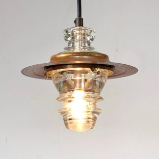 Insulator light Lantern pendant - metal hood