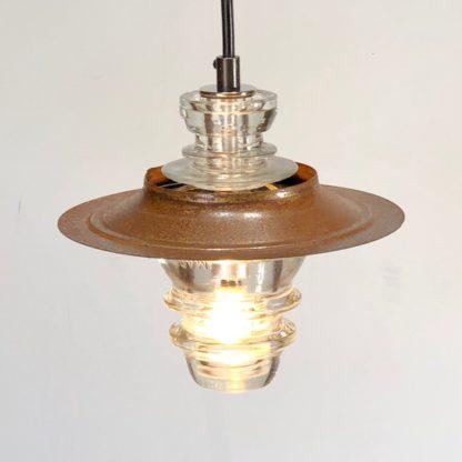 Insulator light Lantern pendant - metal hood