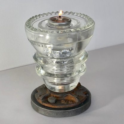 insulator votive candle holder clear