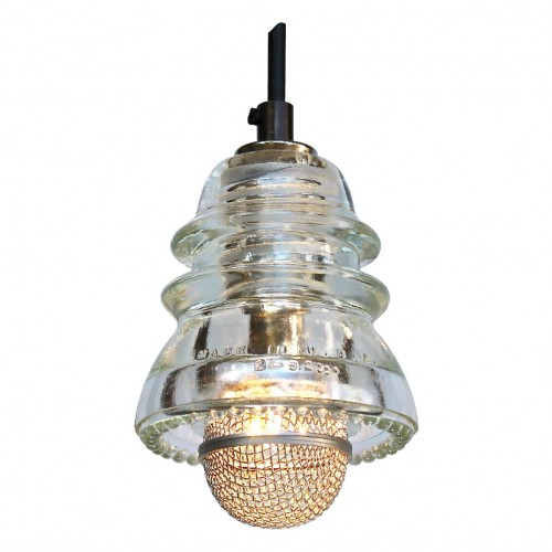 Insulator light pendant w microphone cover 120v 6w 580 for Insulator pendant light