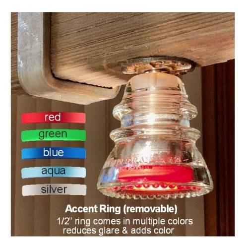 color ring glare band accessory