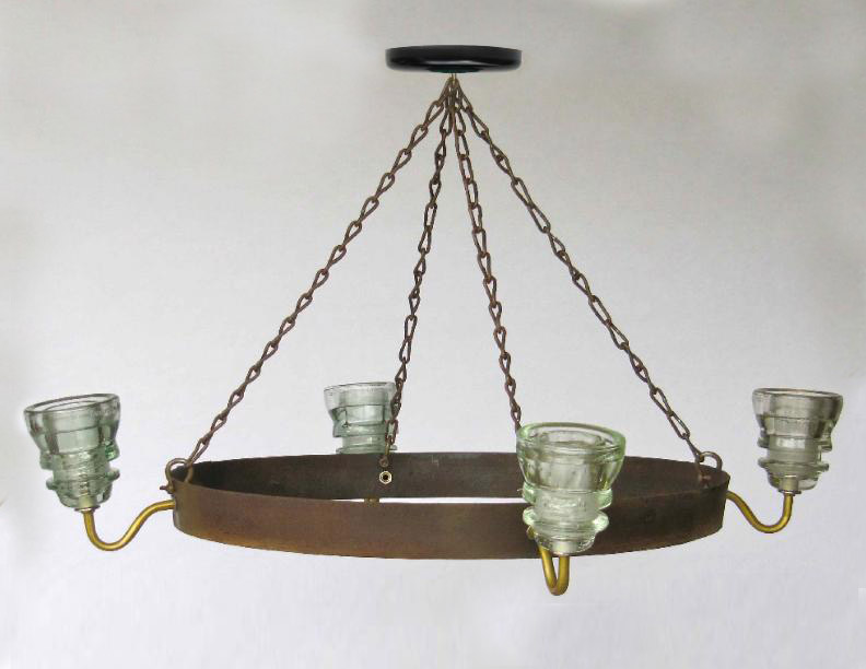 Insulator light chandelier wine barrel hoop 1 railroadware 99800 aloadofball Image collections