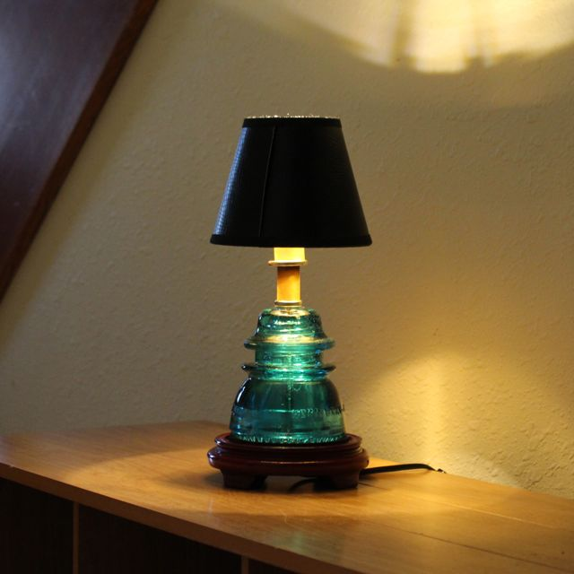 Captivating Insulator Light Table Lamp Blue 07