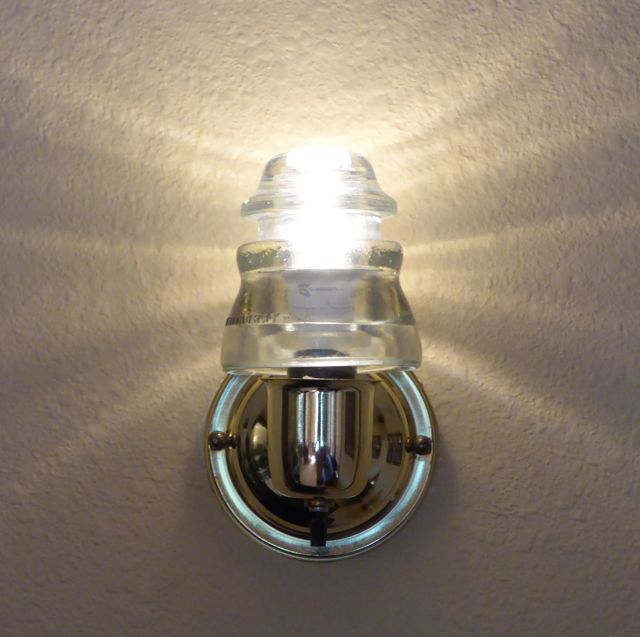 insulator light sconce