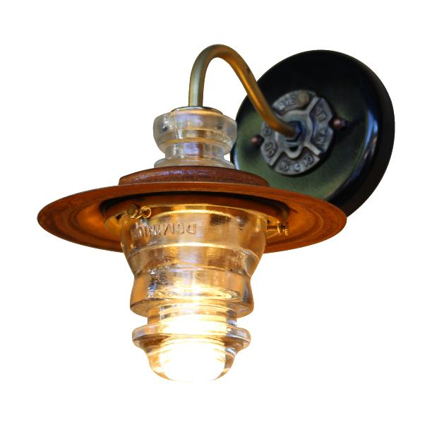 Insulator light Lantern Sconce metal Hood