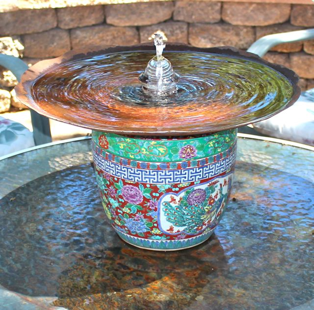 plough disk insulator bubbler fountain