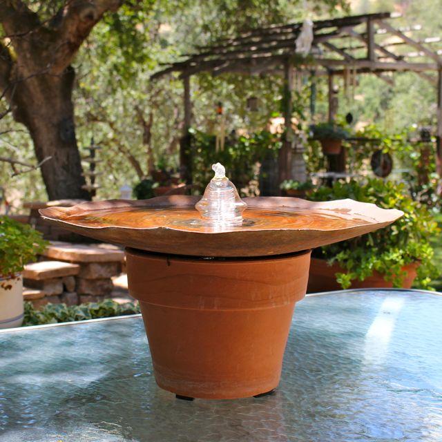 Portable Waterfall Fountain: Plough Disk Insulator Bubbler Fountain Kit (portable