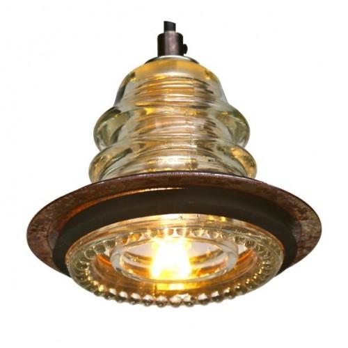 insulator light LED metal ring pendant