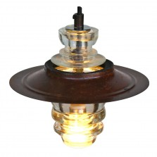 suspended insulator light metal hood pendant