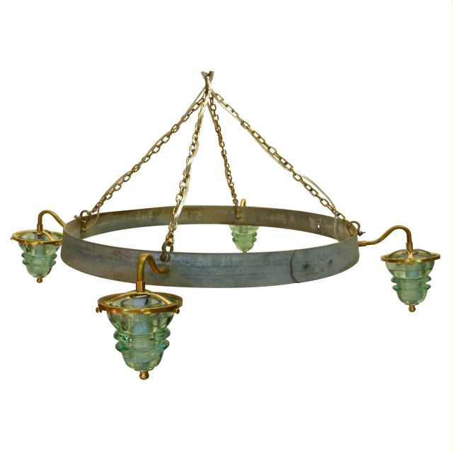Insulator_light_Wine_Barrel_Chandelier_Brass_ front B