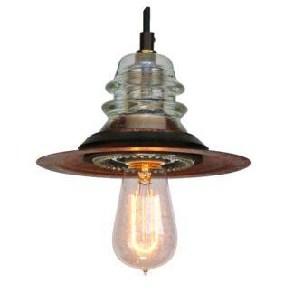 insulator light pendant vintage edison bulb