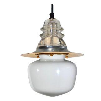 Insulator light Schoolhouse Globe Pendant