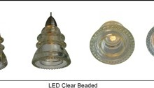 LED Insulatorlight Pendant - Clear Beaded