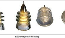 LED Insulatorlight Pendant - Clear Ringed Armstrong