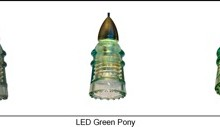 LED Insulatorlight Pendant - Pony Green
