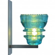 LED Insulatorlight Sconce BlueGreen 2