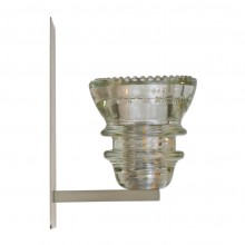 LED Insulatorlight Sconce Clear Beaded