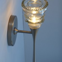 LED Sconce 2-42 Clear Beaded-3