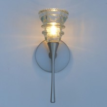 LED Sconce 2- 42 Clear Beaded