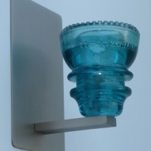 LED Insulatorlight Sconce Blue Green 42
