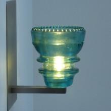 LED Insulatorlight Sconce Blue Green 42