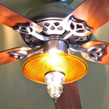 Trafficlight lens ceiling fan kit 2