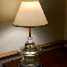 Pyrex insulator table lamp