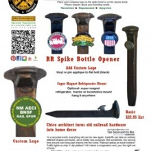 RR Spilke Bottle Opener _ Rail Spur