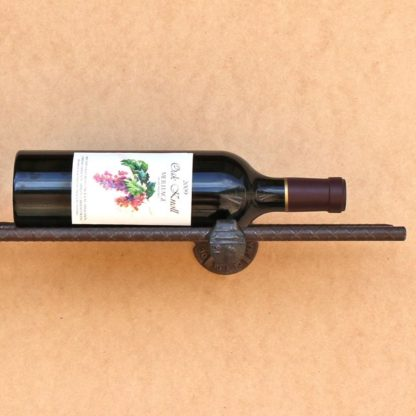 railroad spike wine rack train