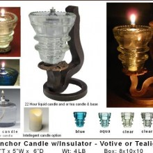 Rail anchor candle Holder w insulator