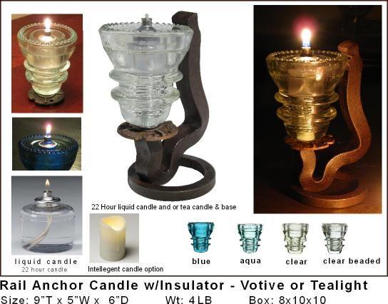 Insulator Amp Trafficlight Candles Railroadware