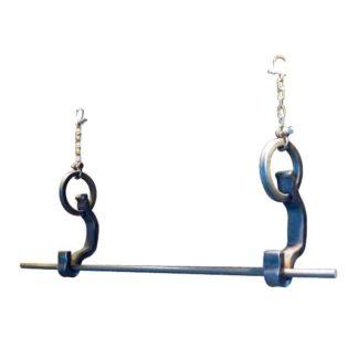 rail anchor 2 pot & pan hanger suspended