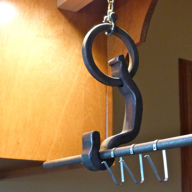 pot & pan rail anchor hanger clip
