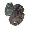 railroad spike hook cast iron ring
