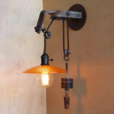 Telegraph Pole Crossarm Pulley Lamp 4 - 1