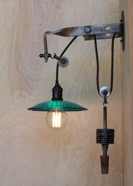 Telegraph Pole Bracket Pulley Light Sconce Edison Bulb 8