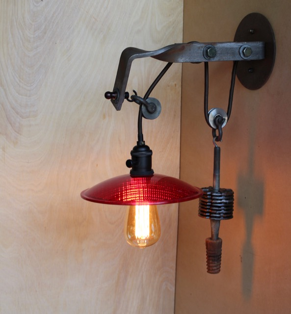bathroom light pulley telegraph pole bracket pulley light sconce edison bulb 8 10861 | Telegraph Pole Crossarm pulley lamp 2 1