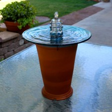 Trafficlight lens & insulator bubbler fountain