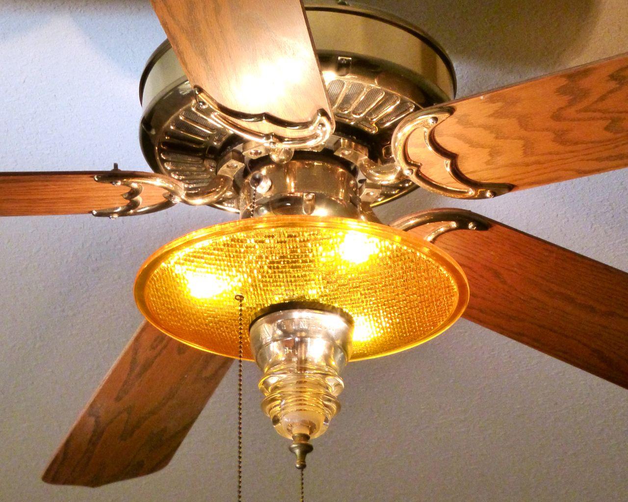 Yellow Ceiling Fan: Traffilcllight Ceiling Fan Kit ...,Lighting
