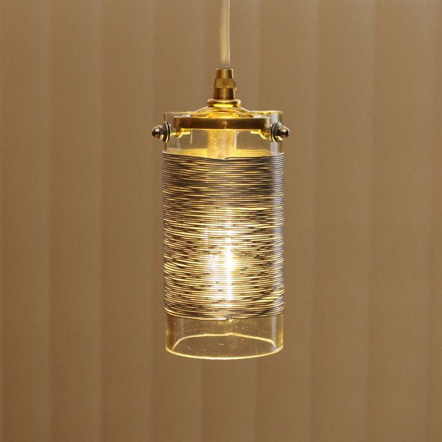 Wire Coil GlassToroid Pendant Light