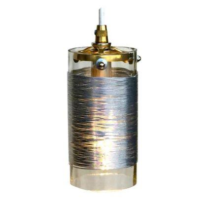 Wire Coil GlassToroid Pendant Light