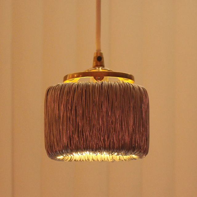 Wire Coil Toroid Pendant LED