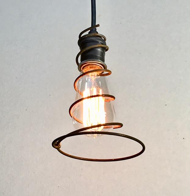 Pendant Light Bulb Wiring : Wire lariat pendant light w edison bulb railroadware
