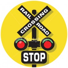 RR Crossing Sign Graphic