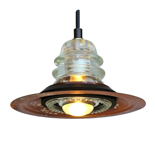 insulator light pendant metal hood