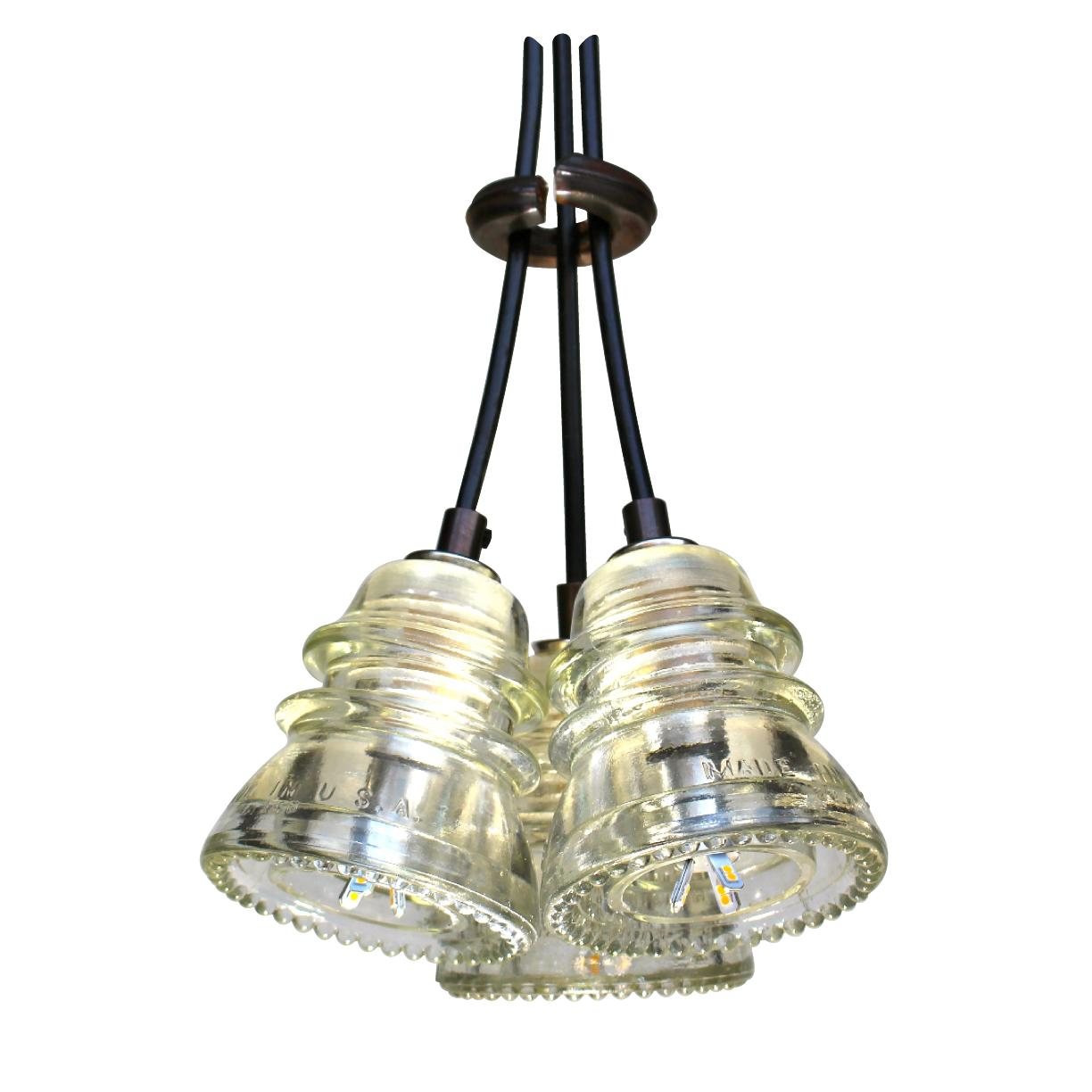 Insulator light pendant led cluster 120v 6w 500 lumens for Insulator pendant light